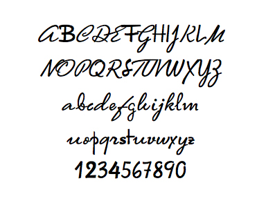 The Writer's Font