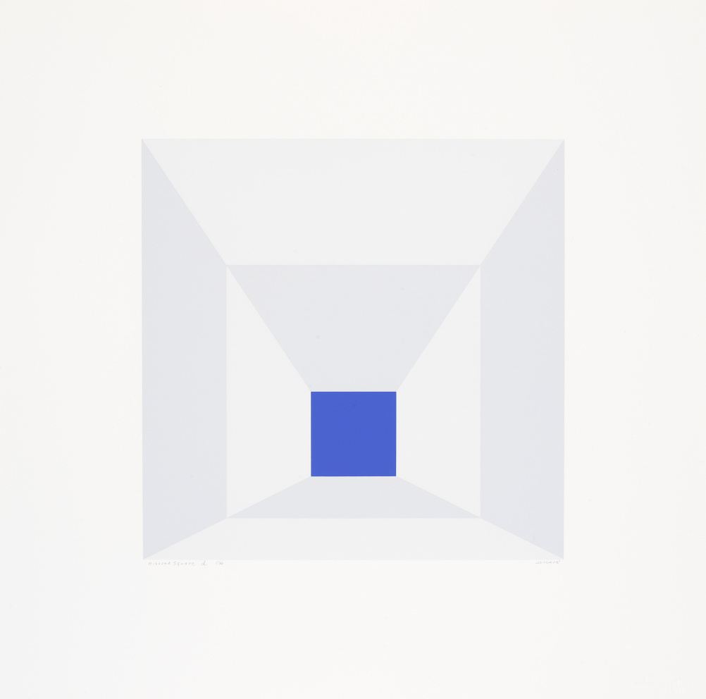 Josef Albers, Mitered Squares (D), 1976, Portfolio of twelve screenprints on Arches 88 rag mould-made paper
