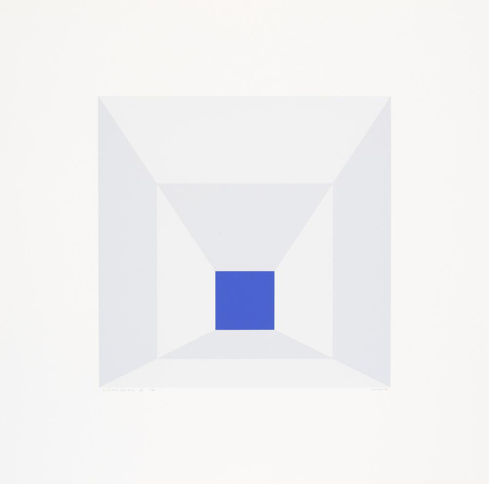 Josef Albers, Mitered Squares (D), 1976, Portfolio of twelve screenprints on Arches 88 rag mould-made paper