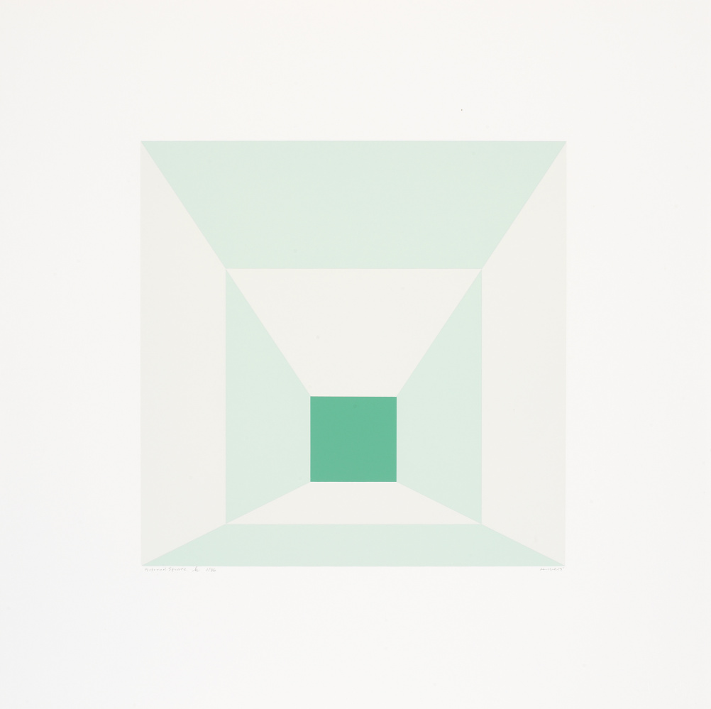 Josef Albers, Mitered Squares (H), 1976, Portfolio of twelve screenprints on Arches 88 rag mould-made paper, Edition of 36