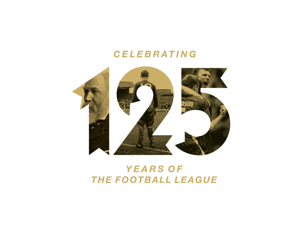 Logo for the Football League's 125th anniversary