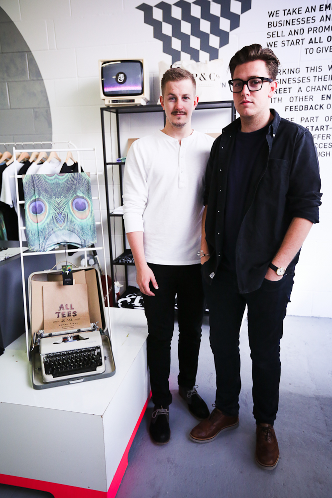 Lee Timms and Adison Rudall from PandCo Clothing.