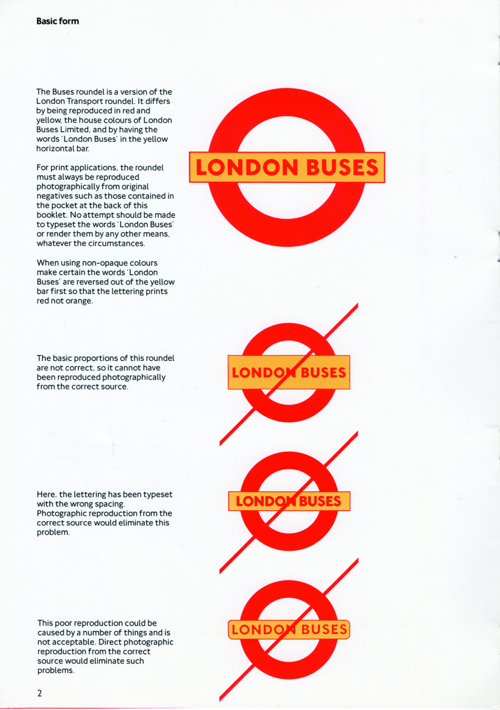 London buses roundel guidelines