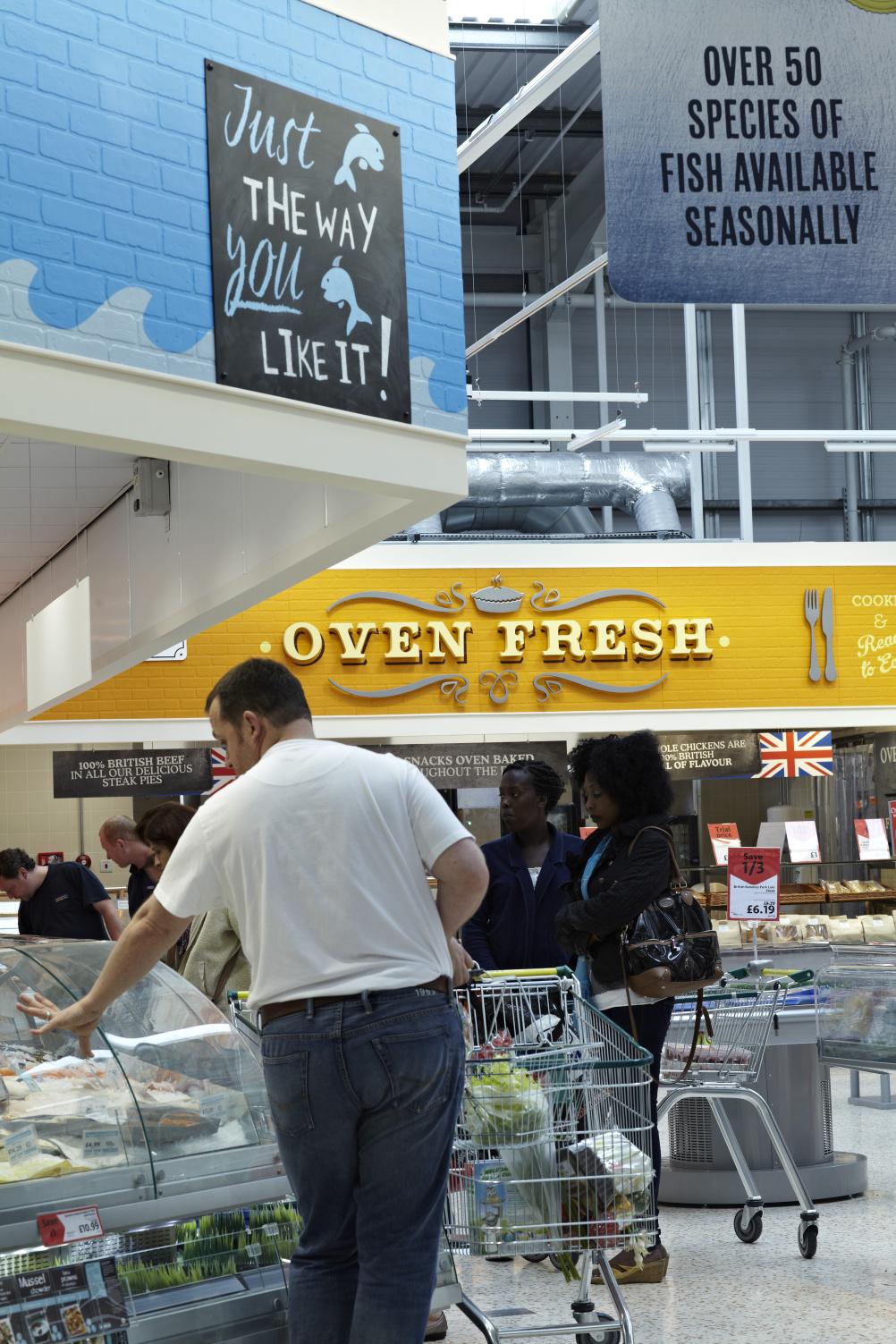 Shoppers at Morrisons Market Place
