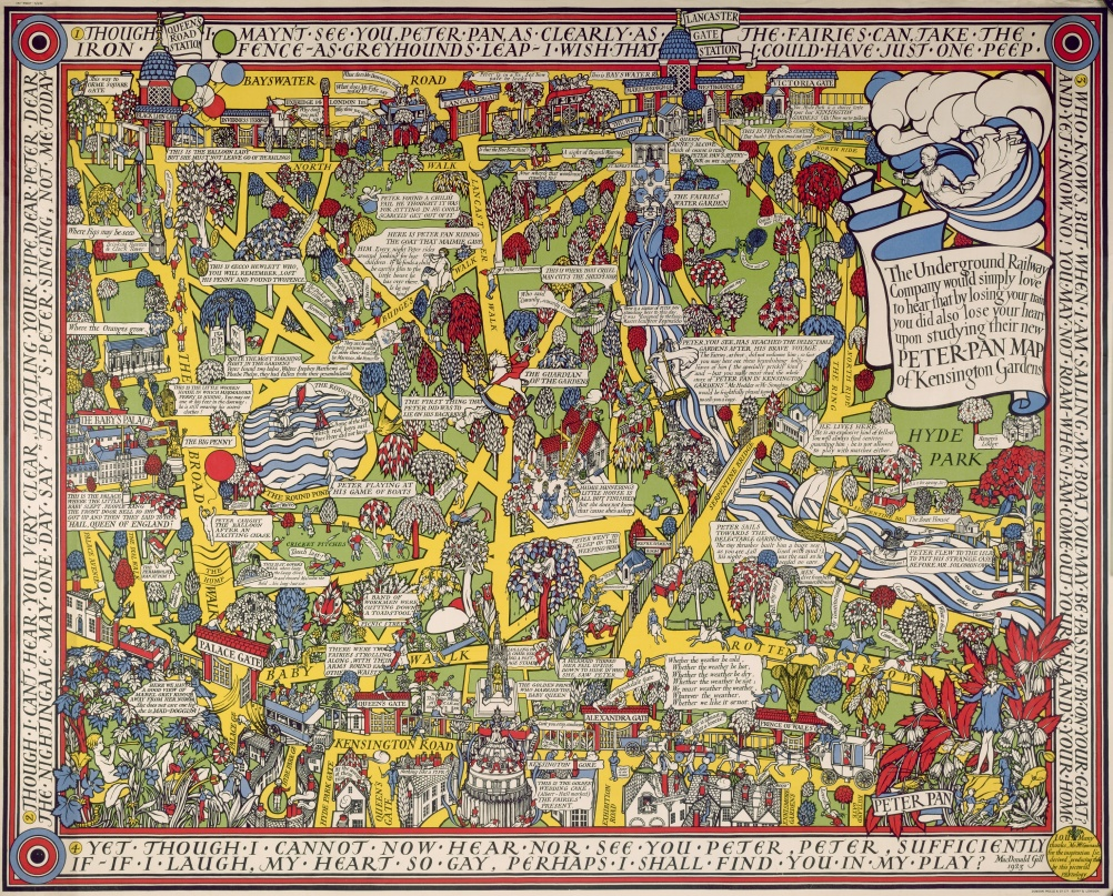 Peter Pan Map of Kensington Gardens (1923)