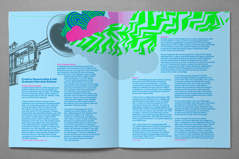 Spread from one of the issues