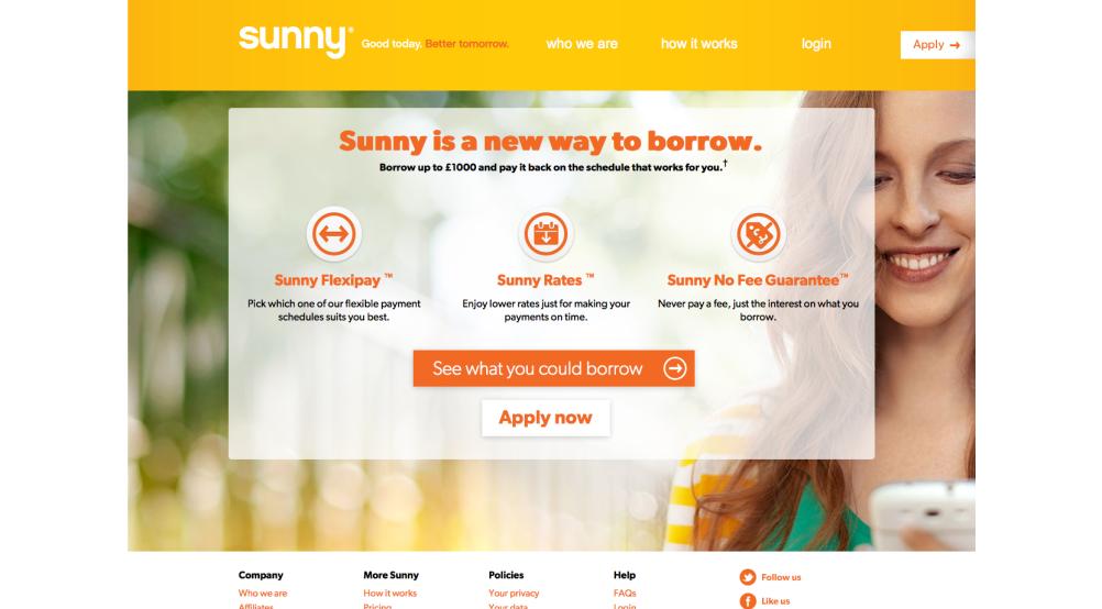 Sunny homepage