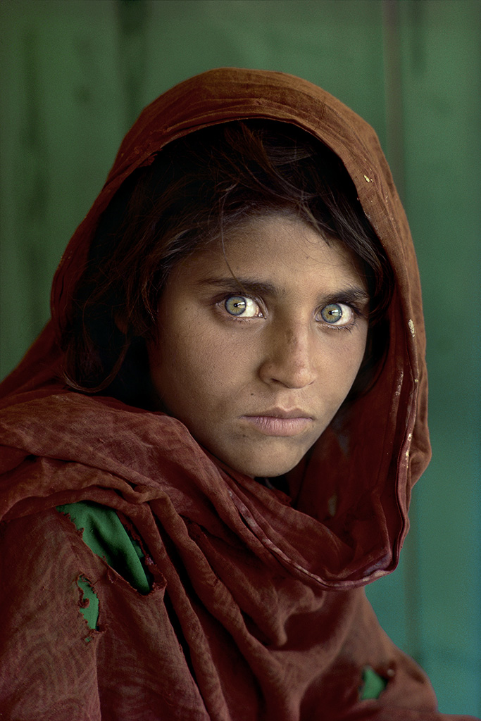 Steve McCurry, Afghan Girl at Nasir Bagh refugee camp, Peshawar, Pakistan, 1984