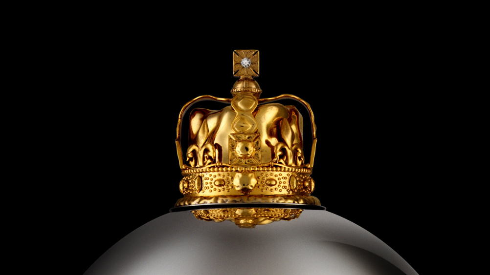 Close-up of the coronation crown