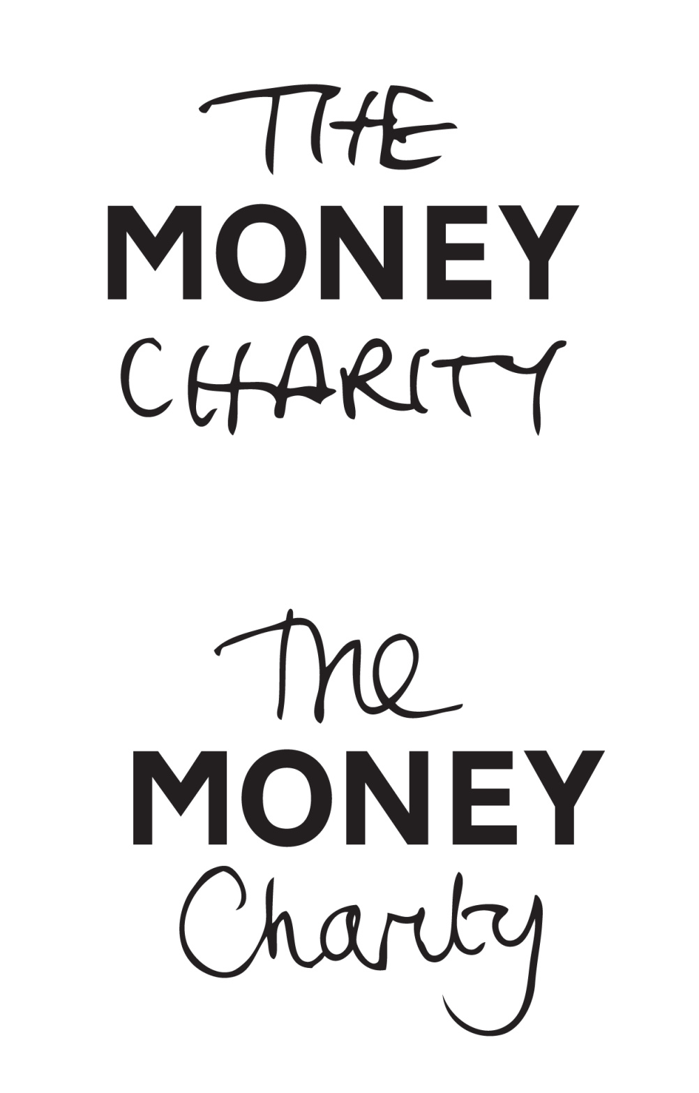 The Money Charity personalised logos