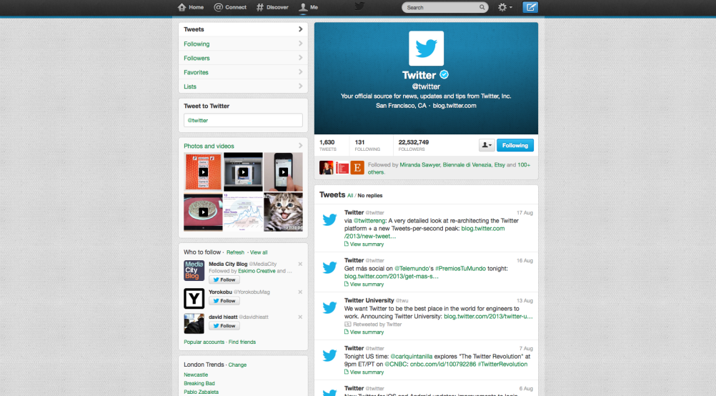 Twitter uses Twitter to interact with Twitter users…