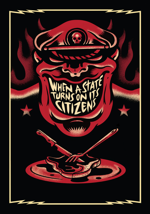 Book cover design for When a State Turns on its Citizens: 60 Years of Institutionalised Violence in Zimbabwe, by Lloyd Sachikonye