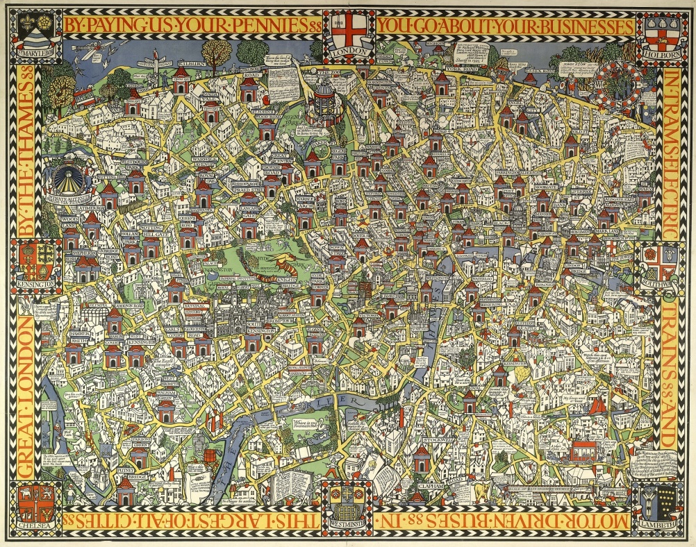 The Wonderground Map of London Town (1914)