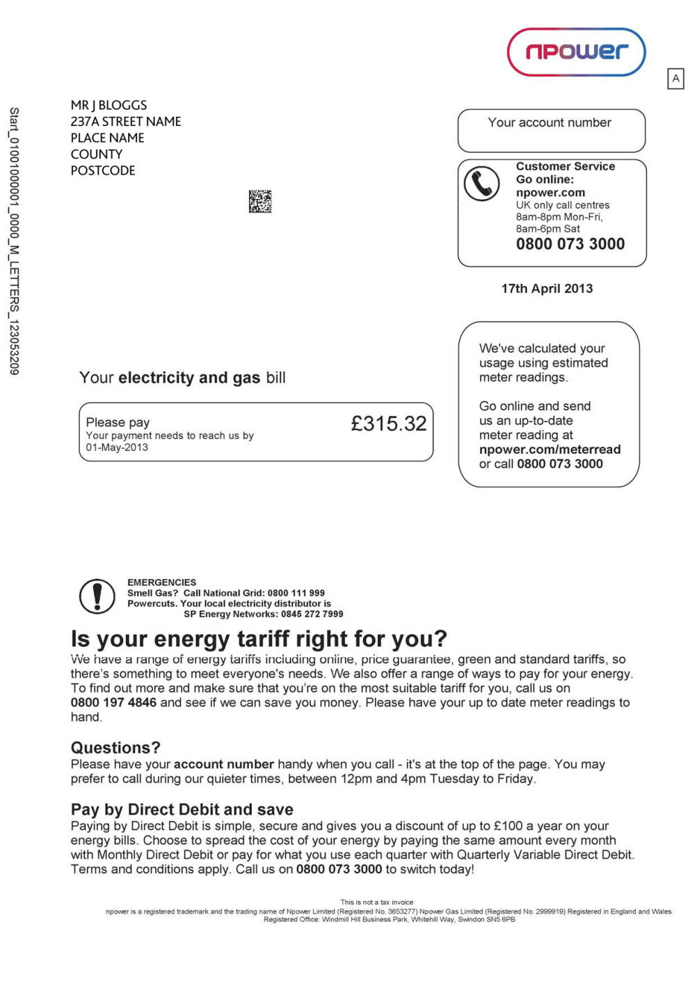 The old Npower bill