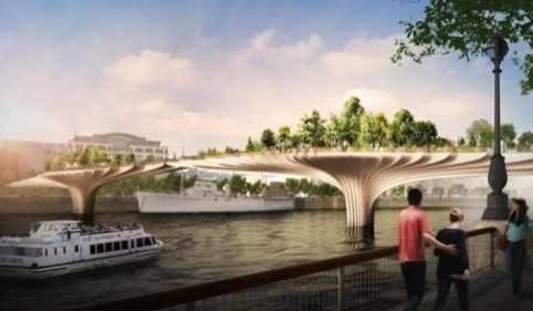 Heatherwick's proposed Garden Bridge