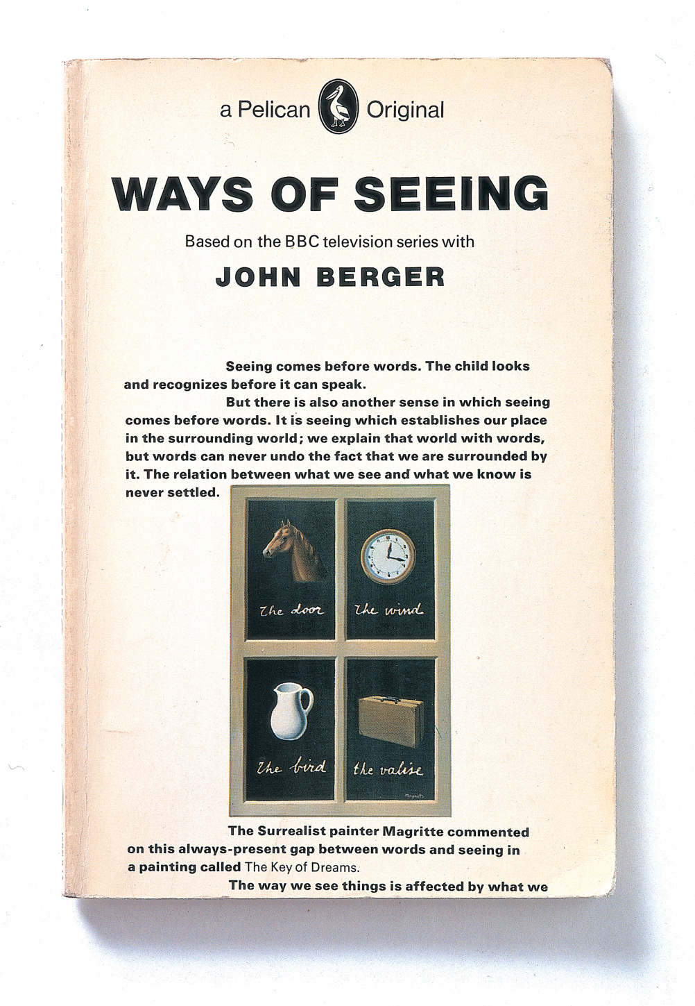Book cover for Ways of Seeing by John Berger. Design by Richard Hollis. Published by BBC and Penguin Books, London, 1972.