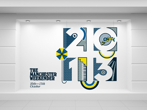 Manchester Weekender window display