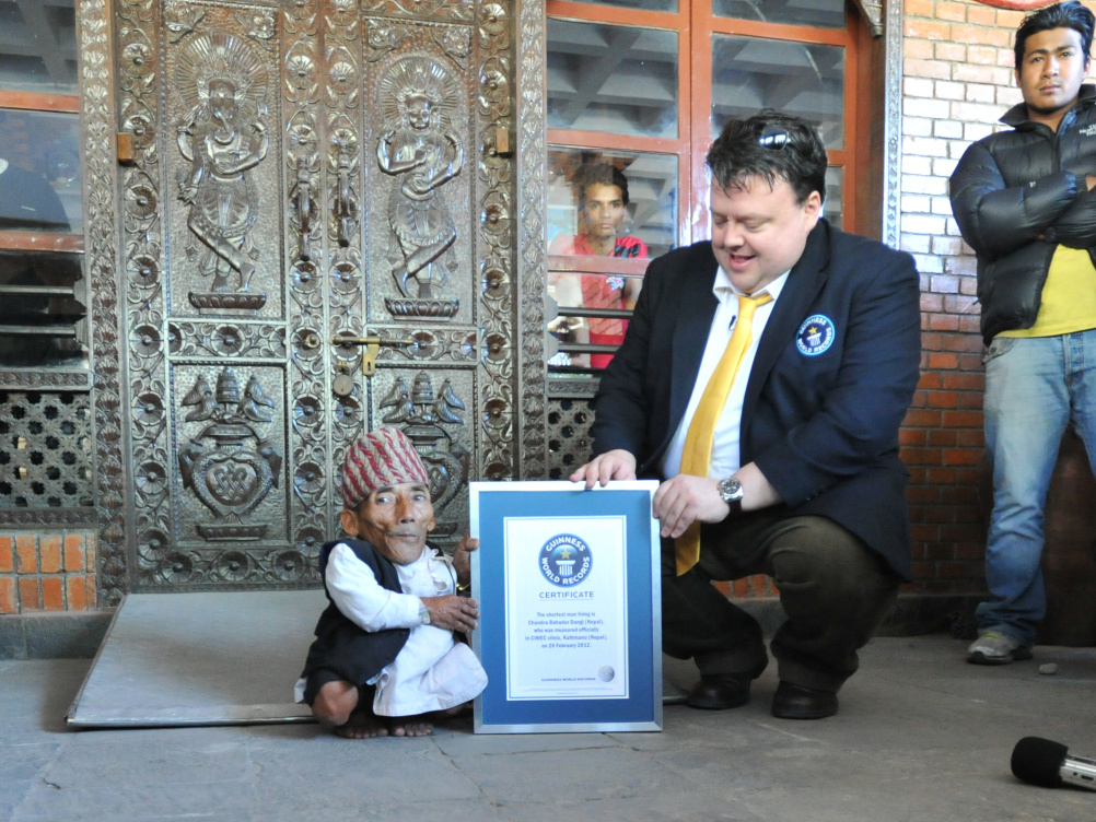 Chandra Dangi - the world's shortest man