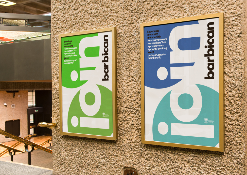 Barbican branding by North
