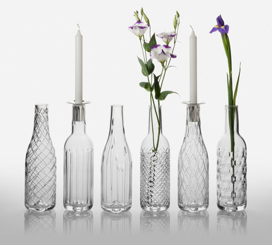 Bottles by Cumbria Crystal.