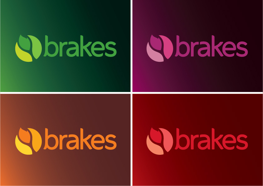 Brakes logo colour variations