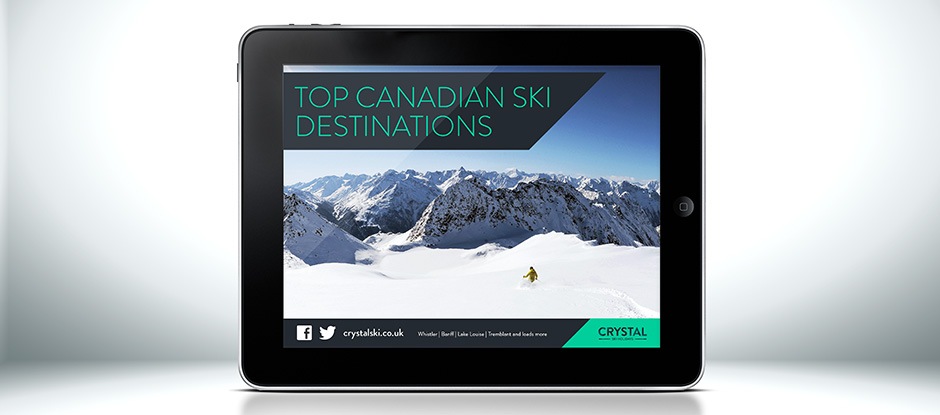 Crystal Ski Holidays site on iPad