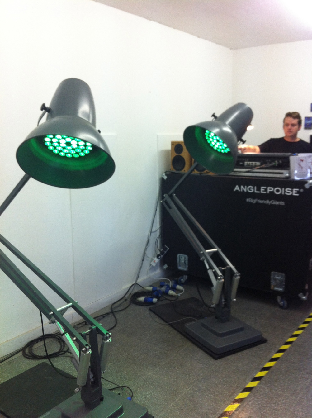 Dancing Anglepoise lamps