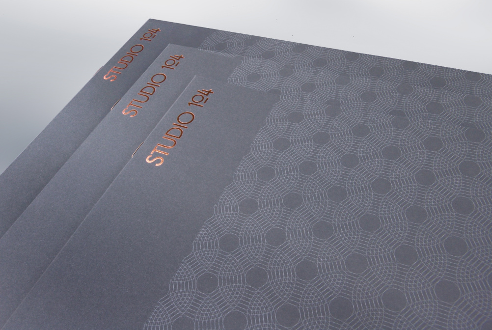 Portfolio brochure cover close-up