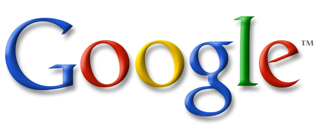The previous Google logo, with letter shadowing