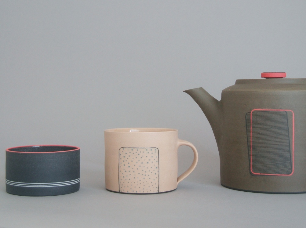 James and Tilla Waters, Naked Tea Set.