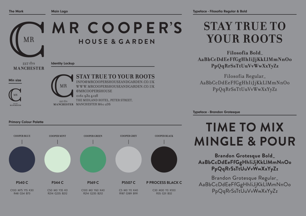 Mr Cooper's branding by Ahoy