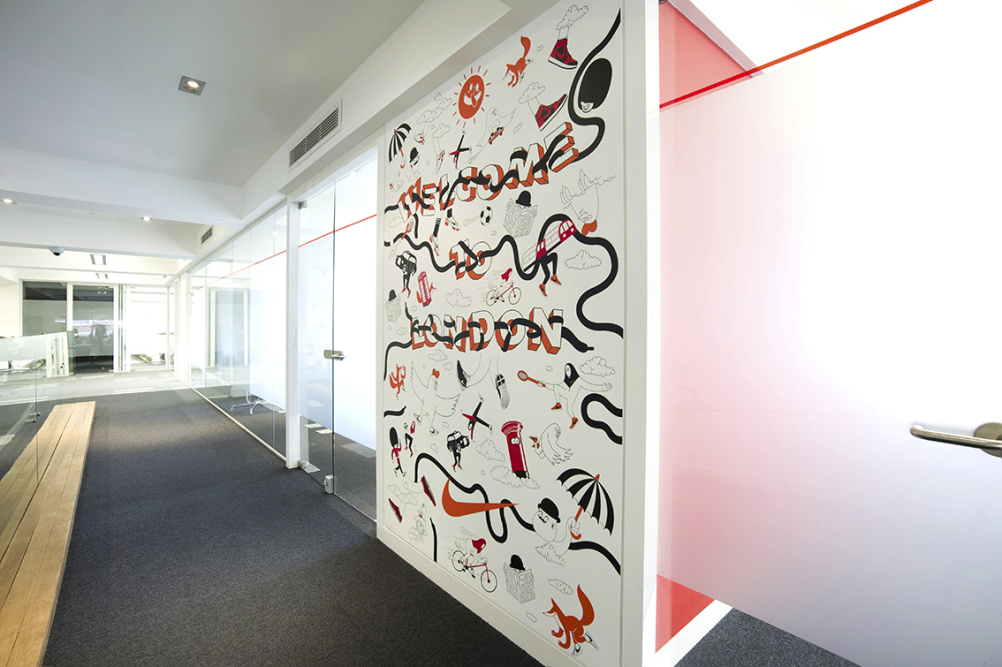 Nike London Office 3rd Floor Wall