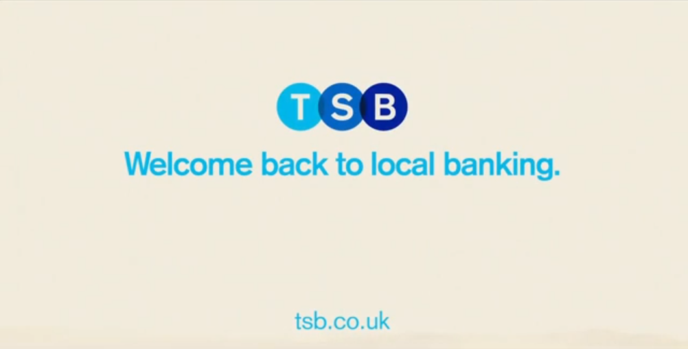 Still from the TSB launch campaign