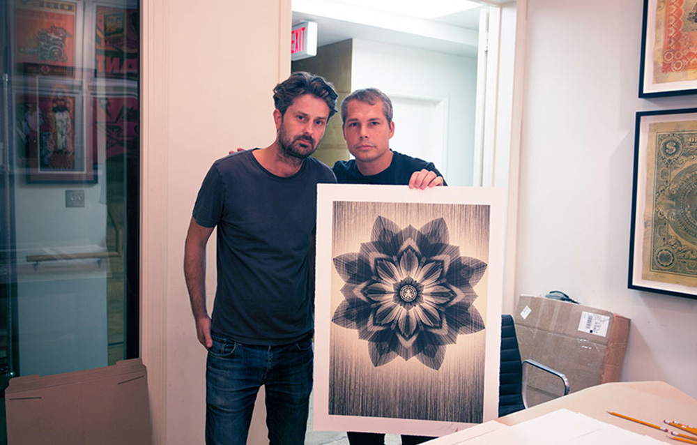 Shepard Fairey and Kai