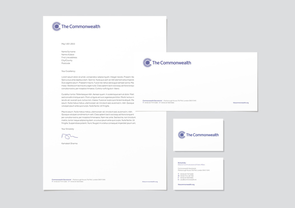 The Commonwealth stationery