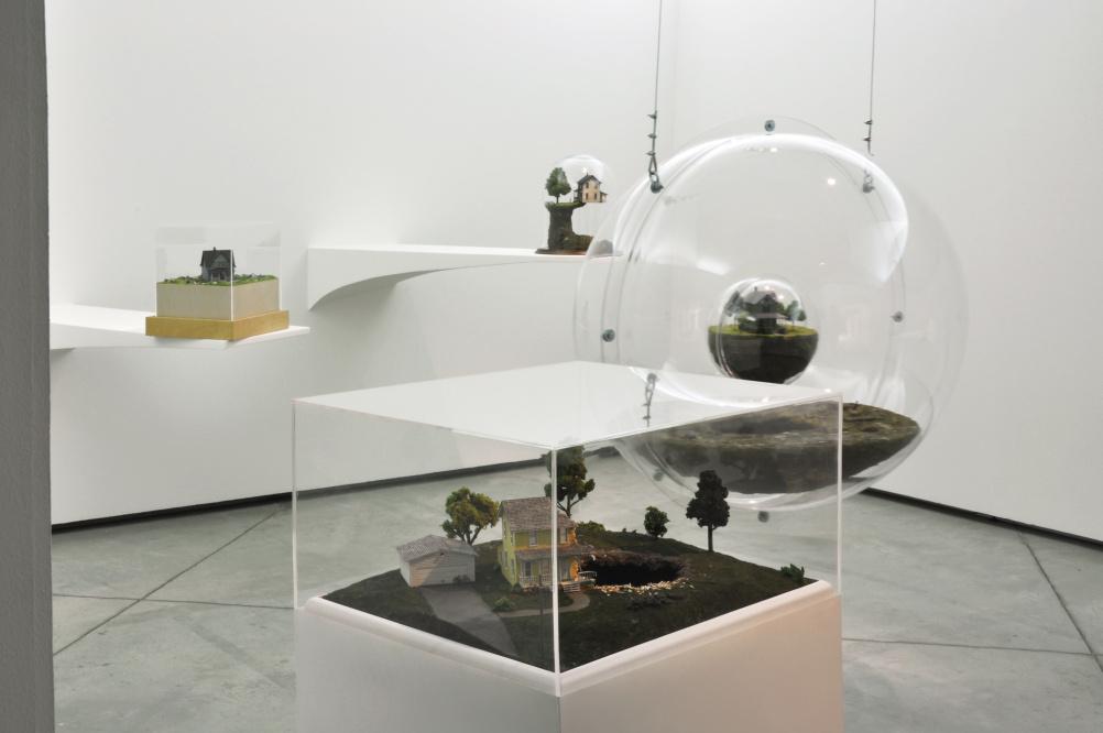 Thomas Doyle installation image from Palazzo Strozzi, 2012