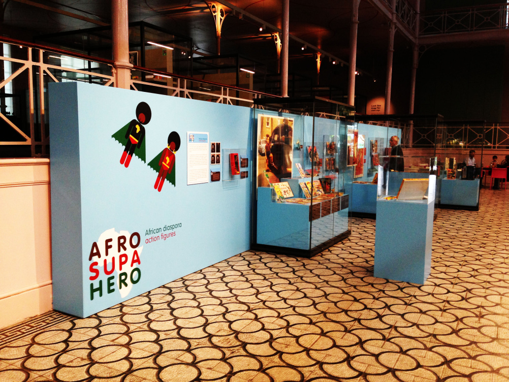 AfroSupaHero exhibition graphics