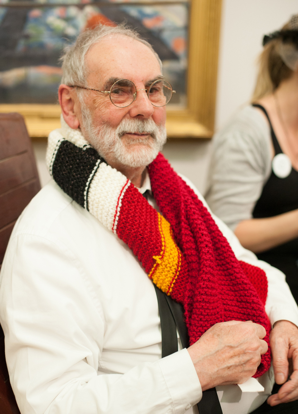 Jim Giles, with scarf