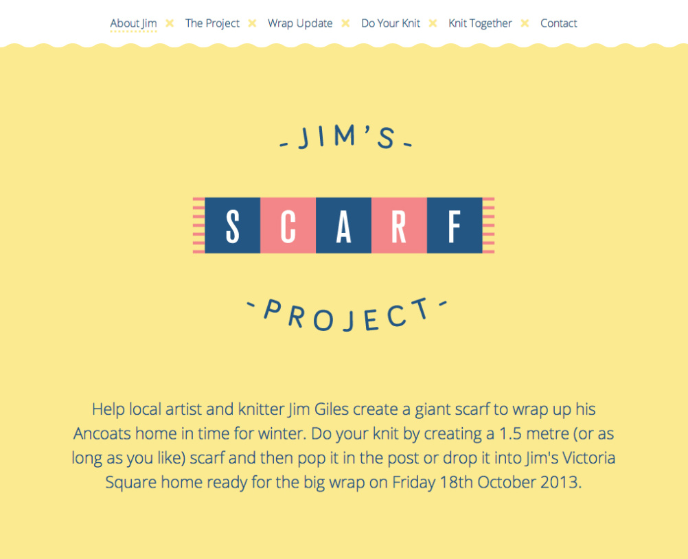 The Jim's Scarf website
