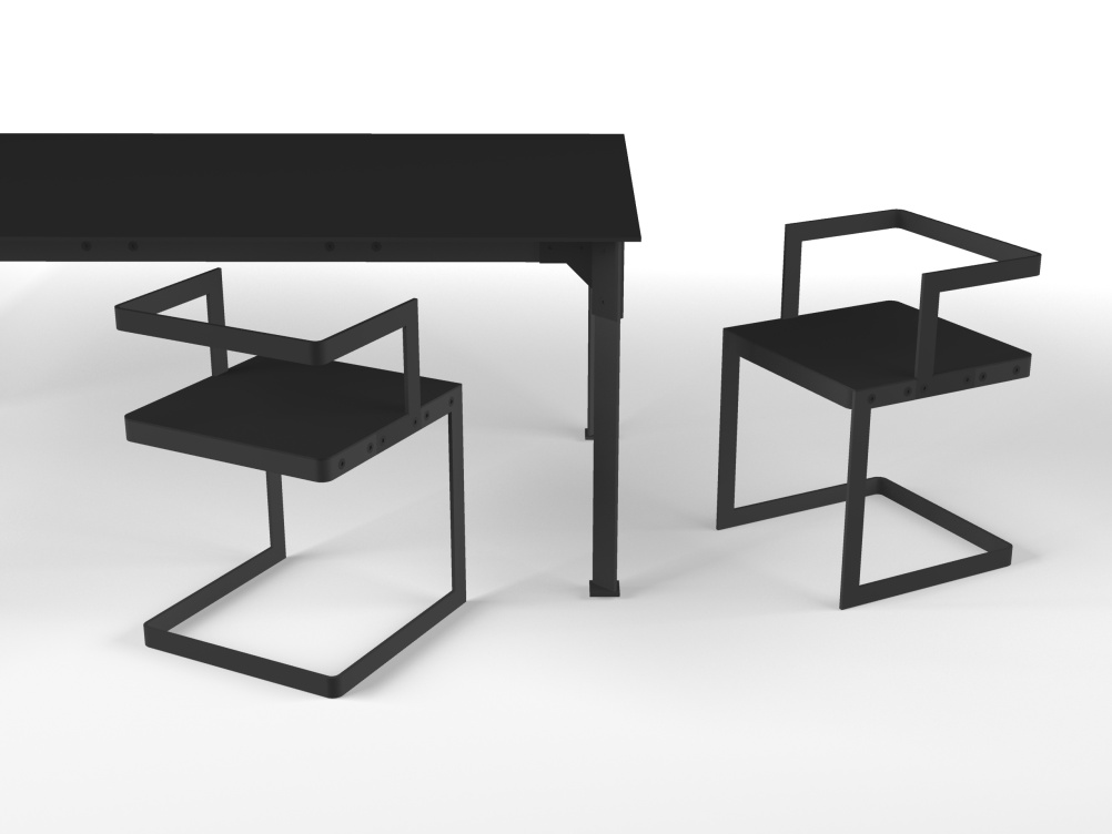 Chair and table render - awaiting pattern