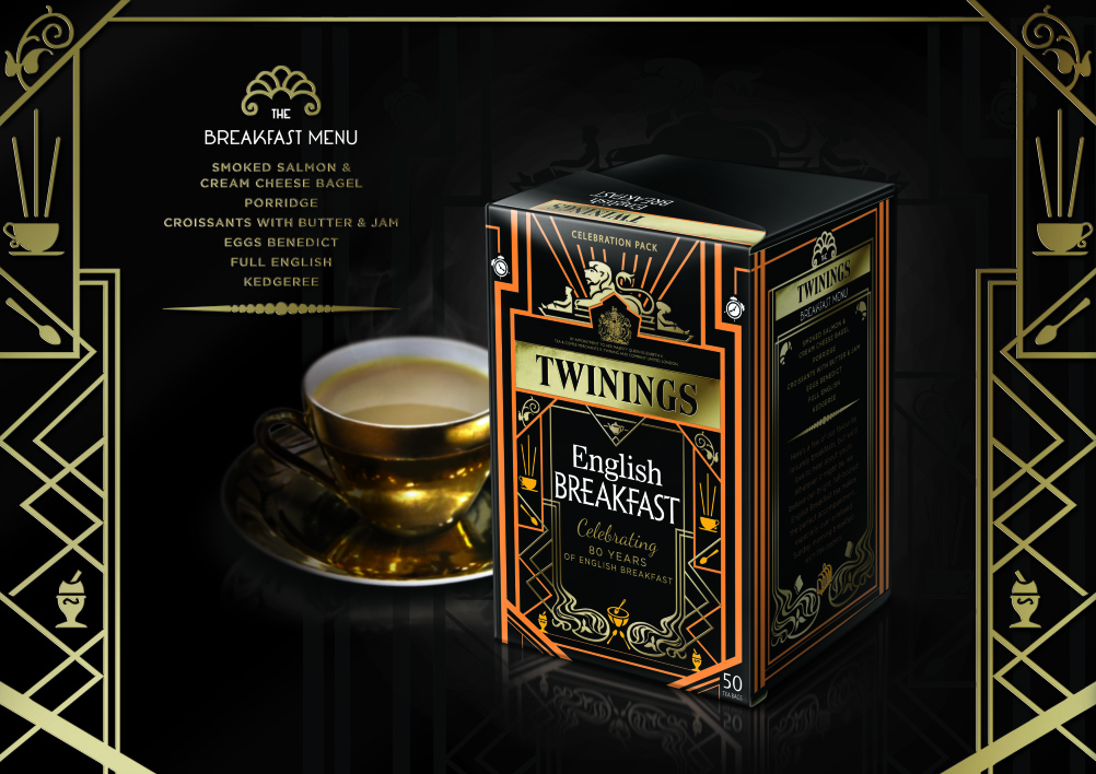Twinings English Breakfast tea 80th anniversary limited edition pack