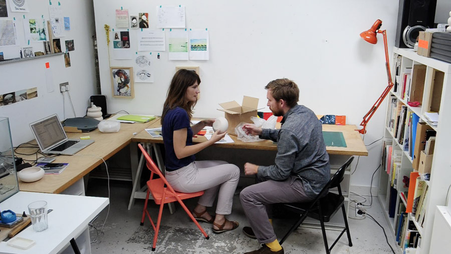 Designer Ben Branagan and illustrator/ceramicist Laura Carlin