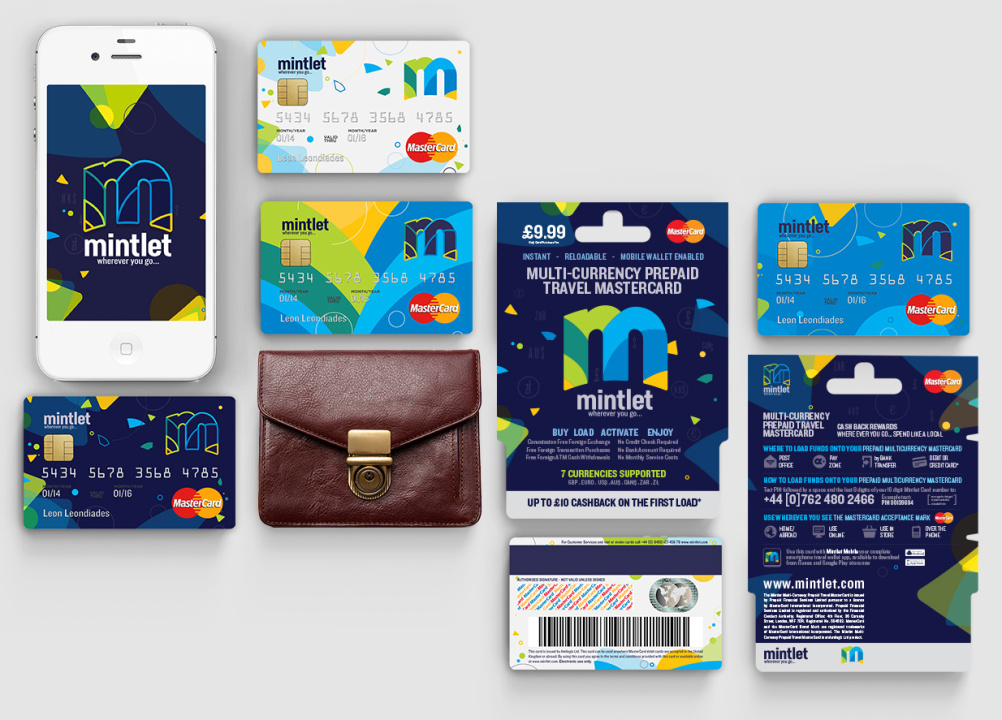 The cards, app and packaging