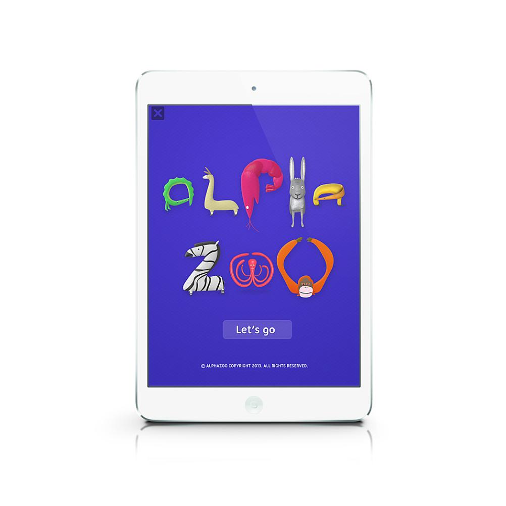 Alpha Zoo app title screen