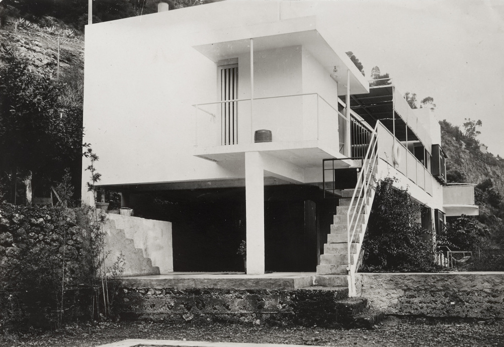 Eileen Gray, View of the garden façade of E1027, 1926-29. This was Gray's first completed domestic architectural project. Copyright National Museum of Ireland.