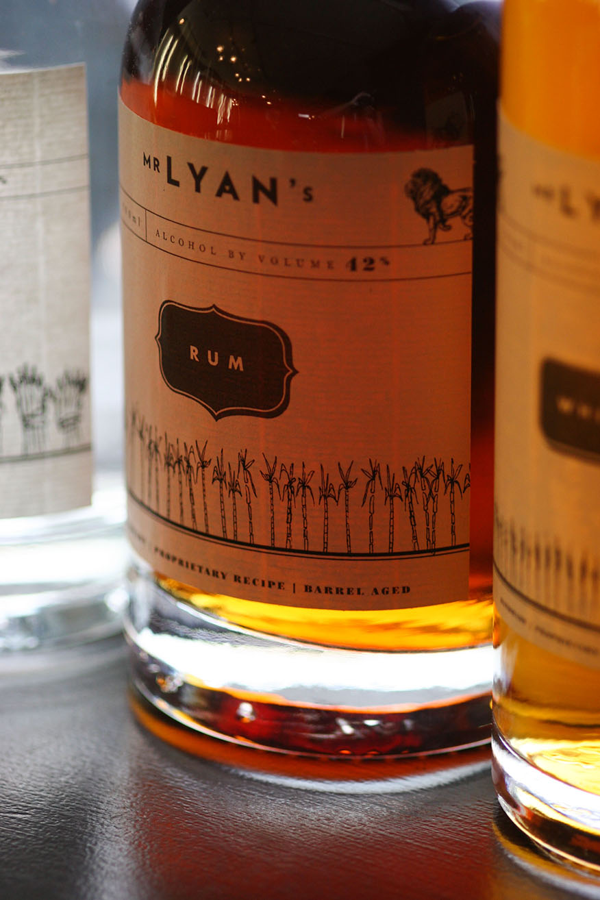 White Lyan spirits label close up
