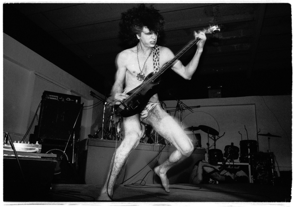 Joe Albanese of Mighty Sphincter, from a show at the Party Gardens opening for Dead Kennedys