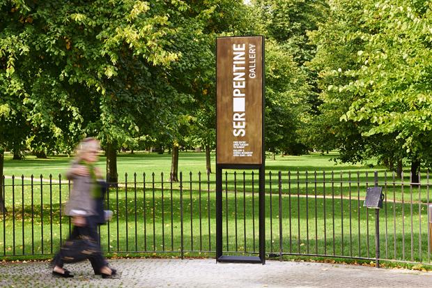Signage designed by Daniel Weil