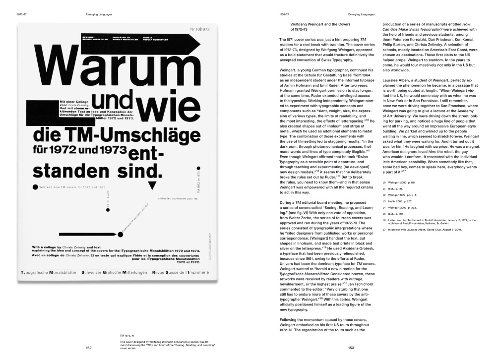 Cover designed by Wolfgang Weingart discussing the 'Why and how' of the 'Seeing, Reading and Learning' cover series