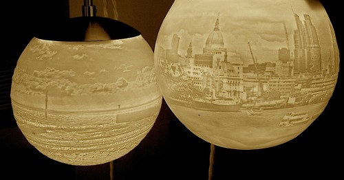 Porcelain lights, by Beth Lewis-Williams